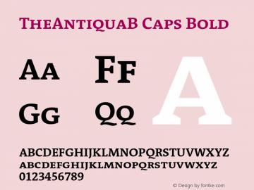 TheAntiquaB Caps Bold 001.000 Font Sample