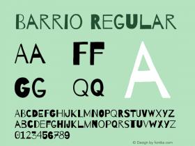 Barrio Regular Version 1.004图片样张