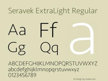 Seravek ExtraLight Regular 9.0d3e1图片样张