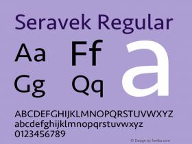 Seravek Regular 9.0d3e1图片样张