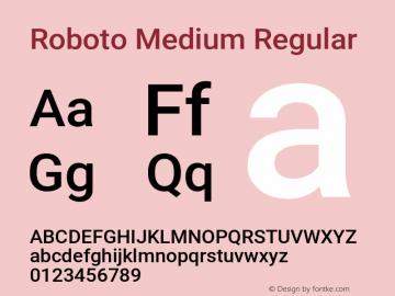 Roboto Medium Regular Version 2.134; 2016图片样张