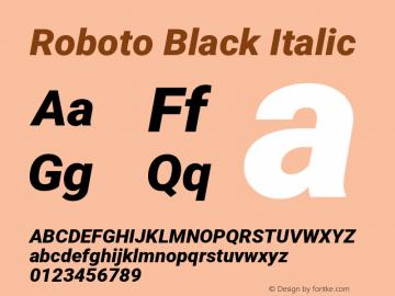 Roboto Black Italic Version 2.134; 2016图片样张