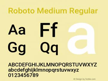 Roboto Medium Regular Version 2.134图片样张