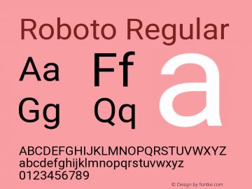 Roboto Regular Version 2.134 Font Sample