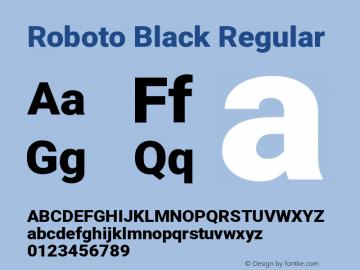 Roboto Black Regular Version 2.134图片样张