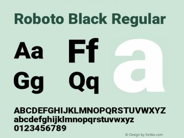 Roboto Black Regular Version 2.134; 2016图片样张
