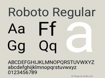 Roboto Regular Version 2.134; 2016 Font Sample