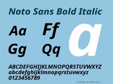 Noto Sans Bold Italic Version 1.06 uh Font Sample
