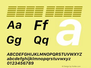 系统字体 半粗斜体 12.0d5e4 Font Sample