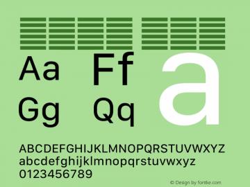 系统字体 常规体 12.0d5e4 Font Sample