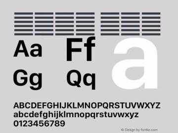 系统字体 半粗体 12.0d5e3 Font Sample
