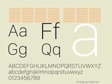 系统字体 超细体 12.0d5e3 Font Sample