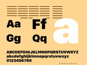 系统字体 黑 12.0d5e3 Font Sample
