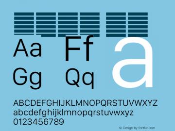 系统字体 细体 12.0d5e3 Font Sample