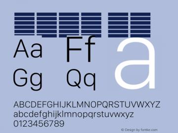 系统字体 瘦体 12.0d5e3 Font Sample