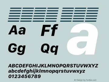 系统字体 粗斜体 12.0d5e4 Font Sample