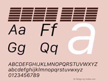 系统字体 细斜体 12.0d5e4 Font Sample