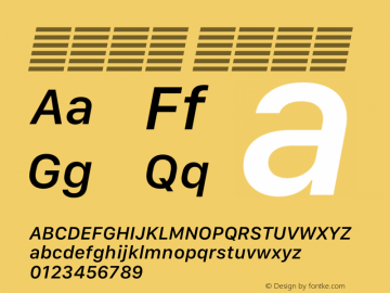 系统字体 中等斜体 12.0d5e4 Font Sample