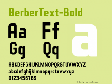 BerberText-Bold ☞ Version 2.000;com.myfonts.easy.letterbox.berber.bold.wfkit2.version.3B8F图片样张