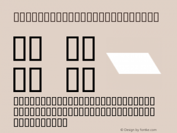 MCS ROUND ITALIC Regular ALMAALIM COPMUTER SYSTEMS Font Sample