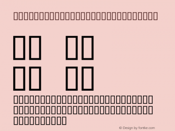 MCS SLIM HIGH ITALIC Regular Macromedia Fontographer 4.1 06/07/96图片样张