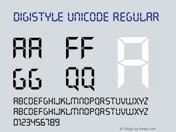 Digistyle Unicode Font Digistyle Unicode 17 12 2004 Font-TTF Font