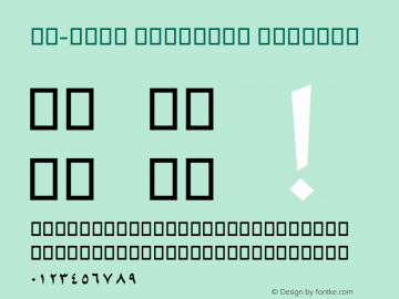 AM-ZAIN ORIGINAL Regular Version 0.1图片样张