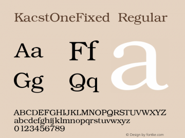 KacstOneFixed Regular 1 Font Sample