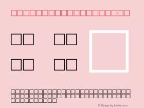 MD_Diwani_1 Regular Glyph Systems 10-jun-93 Font Sample