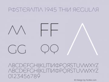 Posterama 1945 Thin Font,Posterama 1945 Font,Posterama1945-Thin Font