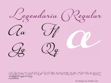 Legendaria Regular Version 1.000 2014 initial release Font Sample