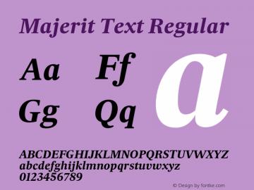 Majerit Text Regular Version 1.000 Font Sample