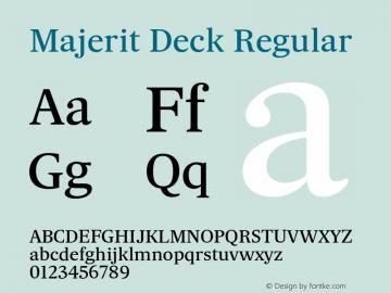 Majerit Deck Regular Version 1.000 Font Sample