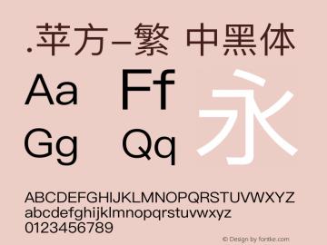 .苹方-繁 中黑体 12.0d5e1 Font Sample