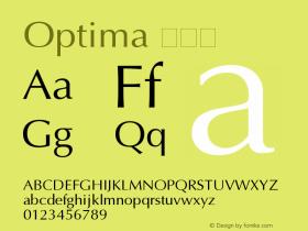 Optima 常规体 11.0d2e1 Font Sample