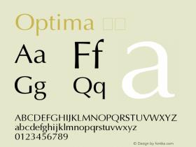 Optima 粗体 11.0d2e1 Font Sample