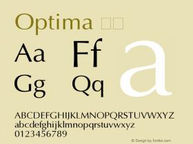 Optima 斜体 11.0d2e1 Font Sample