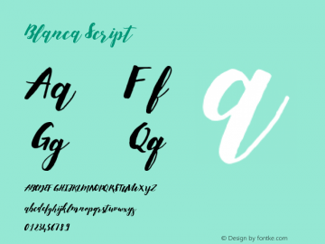 Blanca Script Version 1.000 Font Sample