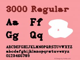 3000 Regular Macromedia Fontographer 4.1 1/13/96 Font Sample