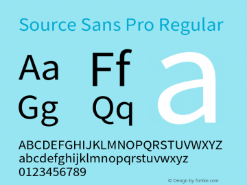 Source Sans Pro Regular Version 1.050;PS 1.000;hotconv 1.0.70;makeotf.lib2.5.5900 Font Sample