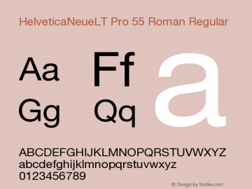 HelveticaNeueLT Pro 55 Roman Regular Version 1.000;PS 001.000;Core 1.0.38 Font Sample