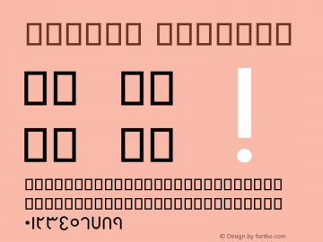 BHelal Regular Version 2.01 - Build 1379 Font Sample