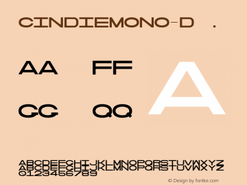 CindieMono-D ☞ Version 1.000;PS 002.000;hotconv 1.0.70;makeotf.lib2.5.58329;com.myfonts.easy.lewis-mcguffie-type.cindie-mono.regular-d.wfkit2.version.4yZ9图片样张