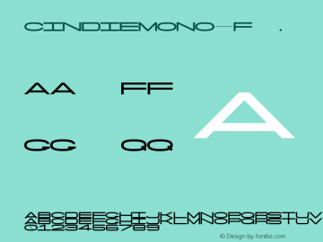 CindieMono-F ☞ Version 1.000;PS 002.000;hotconv 1.0.70;makeotf.lib2.5.58329;com.myfonts.easy.lewis-mcguffie-type.cindie-mono.regular-f.wfkit2.version.4yZb图片样张