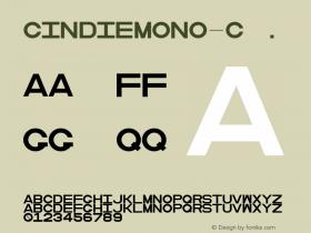 CindieMono-C ☞ Version 1.000;PS 002.000;hotconv 1.0.70;makeotf.lib2.5.58329;com.myfonts.easy.lewis-mcguffie-type.cindie-mono.regular-c.wfkit2.version.4yZf图片样张
