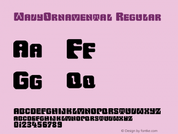 WavyOrnamental Regular Rev. 003.000 Font Sample