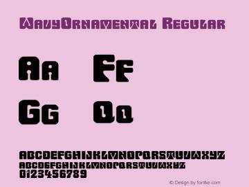 WavyOrnamental Regular Rev. 003.000 Font Sample