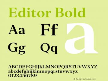 Editor Bold Version 1.0 Font Sample