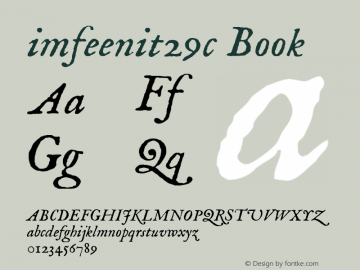 imfeenit29c Book 3.00 Font Sample