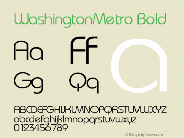 WashingtonMetro Bold Rev. 003.000图片样张